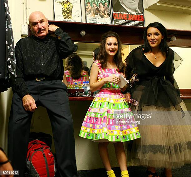 Actors Roger Ward Danielle Catanzariti and Keisha CastleHughes pose backstage at the 2008 Movie Extra FilmInk Awards at the State Theatre on March 12...