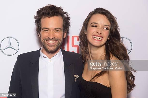 Actors Romain Duris and Charlotte Le Bon attend the 'Iris' Paris Premiere at Gaumont Champs Elysees on November 14 2016 in Paris France