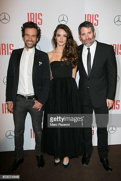 Actors Romain Duris Charlotte Le Bon and director Jalil Lespert attend 'IRIS' Premiere at Gaumont Champs Elysees on November 14 2016 in Paris France