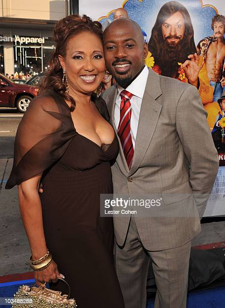 Actors Romany Malco and Telma Hopkins arrive at the Los Angeles Premiere of The Love Guru at Grauman's Chinese Theatre on June 11 2008 in Hollywood...