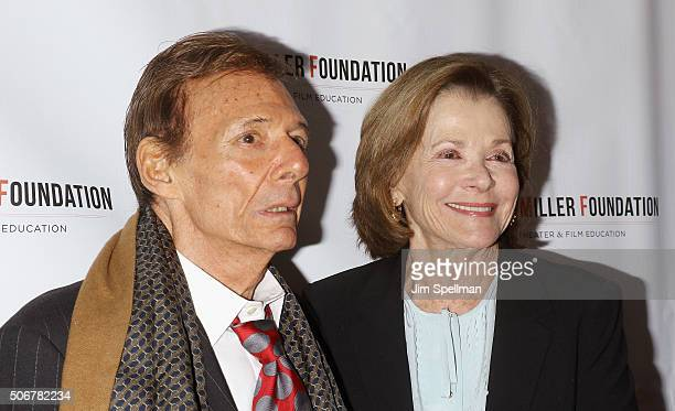 Actors Ron Leibman and Jessica Walter attend the Arthur Miller One Night 100 Years Benefit at Lyceum Theatre on January 25 2016 in New York City