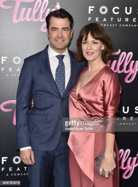 Actors Ron Livingston and Rosemarie DeWitt arrive at the Los Angeles premiere of Focus Features' 'Tully' at Regal LA Live Stadium 14 on April 18 2018...