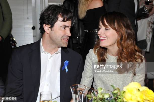Actors Ron Livingston and Rosemarie DeWitt attend Vanity Fair and Barneys New York Private Dinner in Celebration of La La Land at Chateau Marmont on...