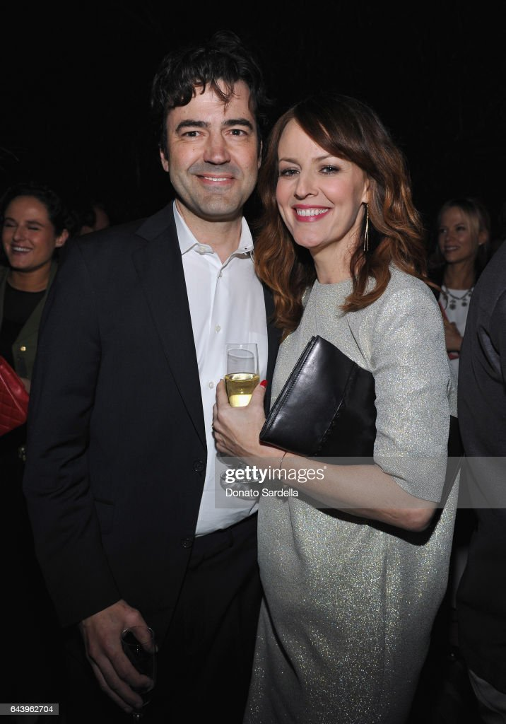 Actors Ron Livingston (L) and Rosemarie DeWitt attend Vanity Fair and Barneys New York Private Dinner in Celebration of 'La La Land' at Chateau Marmont on February 22, 2017 in Los Angeles, California.