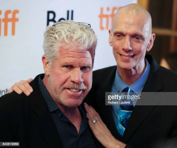 TORONTO ON SEPTEMBER 11 Actors Ron Perlman and Doug Jones A red carpet premier was held for the movie The Shape of Water at the Elgin and Winter...