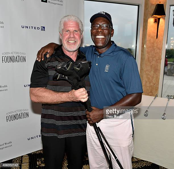 Actors Ron Perlman and James McDaniel attend Screen Actors Guild Foundation 2nd Annual New York Golf Classic at Trump National Golf Club Westchester...