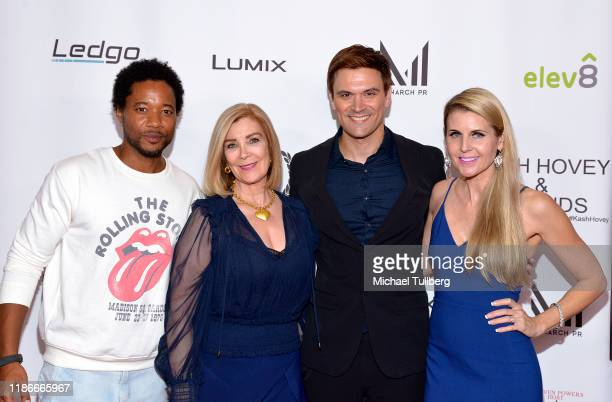Actors Ron Robinson and Michelle Beaulieu producer Kash Hovey and director Kathy Kolla attend the Kash Hovey and Friends Film Block at Film Fest LA...