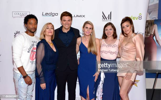 Actors Ron Robinson and Michelle Beaulieu producer Kash Hovey director Kathy Kolla and actors Chantelle Albers and Rachele Royale attend the Kash...