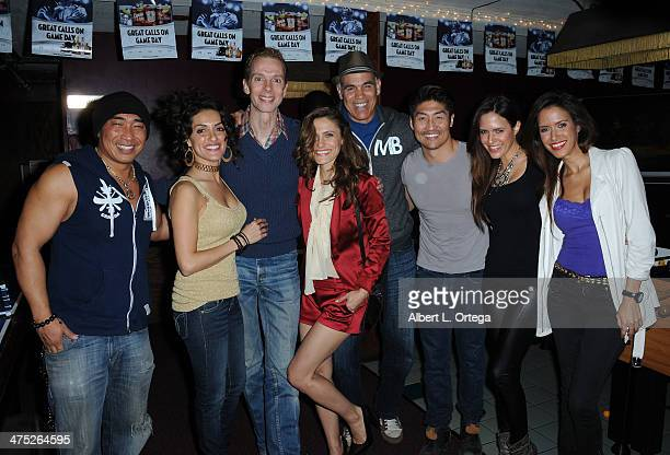 Actors Ron Yuan Mirelly Taylor Doug Jones Lili Bordan Greg Collins Brian Tee singers Thayana Sco and Thaina Sco participate in the 8th Annual Young...