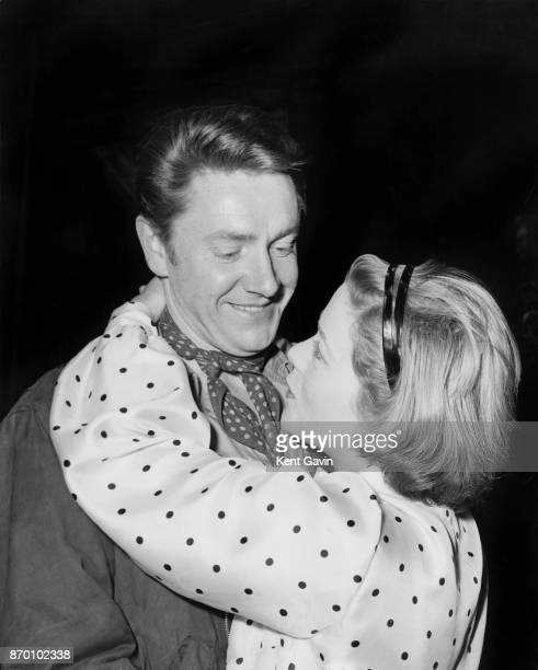 Actors Ronald Hines as O'Killigain and Annette Crosbie as Avril during rehearsals for the play 'Purple Dust' by Sean O'Casey at the Mermaid Theatre...