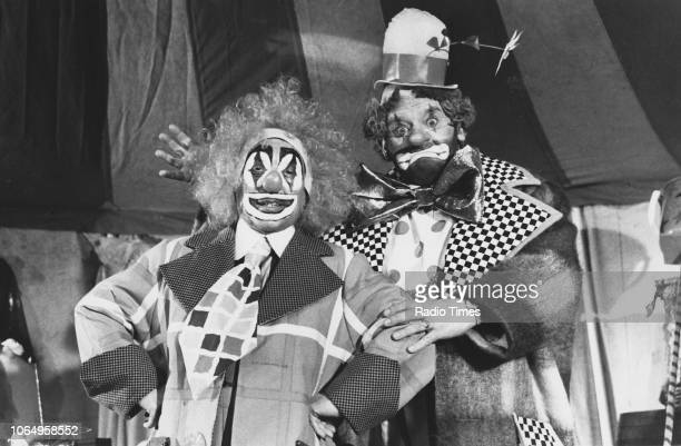 Actors Ronnie Barker and Ronnie Corbett in a clown sketch from the television comedy series 'The Two Ronnies' December 3rd 1983