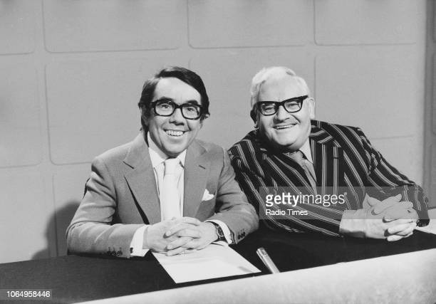 Actors Ronnie Barker and Ronnie Corbett in a sketch from the television comedy series 'The Two Ronnies', November 6th 1977.