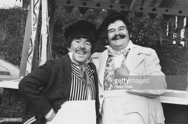 Actors Ronnie Barker and Ronnie Corbett in a sketch from the Christmas special of the television comedy series 'The Two Ronnies' November 30th 1982