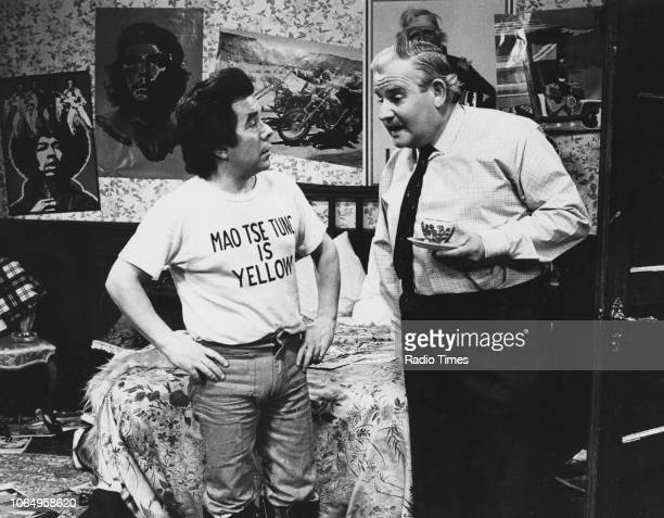Actors Ronnie Barker and Ronnie Corbett in the 'Owen MD' sketch from the television comedy series 'The Two Ronnies' October 13th 1973