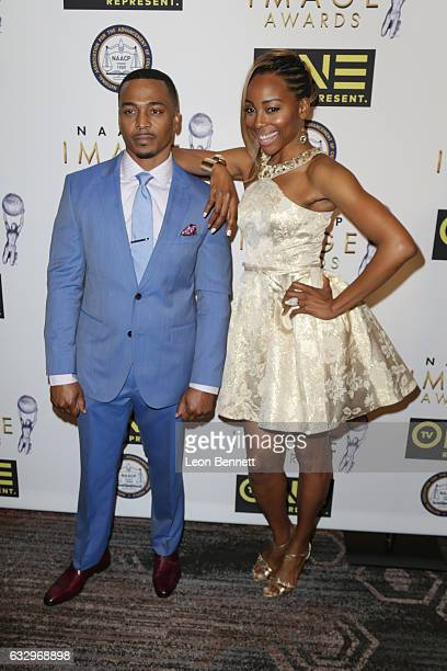 Actors RonReaco Lee and Erica Ash arrives at the 48th NAACP Image Awards Nominees' Luncheon at Loews Hollywood Hotel on January 28, 2017 in...