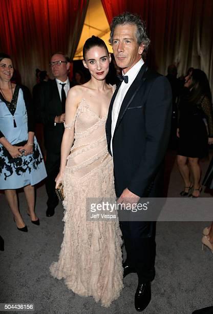 Actors Rooney Mara and Ben Mendelsohn attend The Weinstein Company and Netflix Golden Globe Party presented with DeLeon Tequila Laura Mercier Lindt...