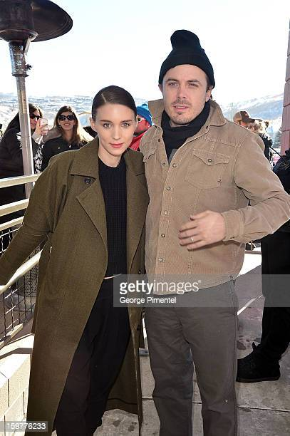 Actors Rooney Mara and Casey Affleck attend the 'Aint Them Bodies Saints' premiere at Eccles Center Theatre during the 2013 Sundance Film Festival on...