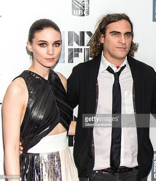 Actors Rooney Mara and Joaquin Phoenix attend the Closing Night Gala Presentation Of Her during the 51st New York Film Festival at Alice Tully Hall...