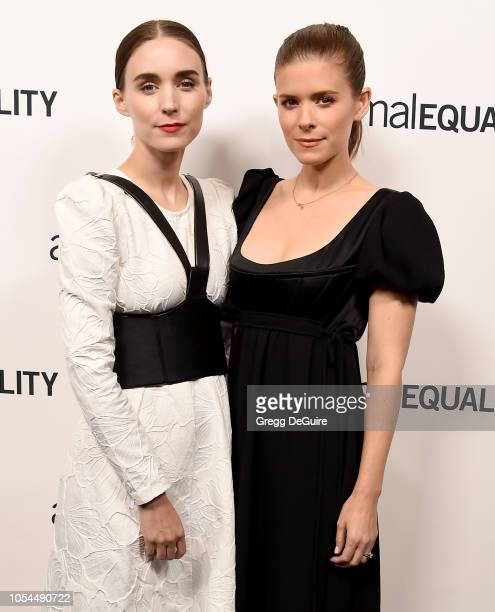 Actors Rooney Mara and Kate Mara arrive at the Animal Equality's Inspiring Global Action Los Angeles Gala at The Beverly Hilton Hotel on October 27...