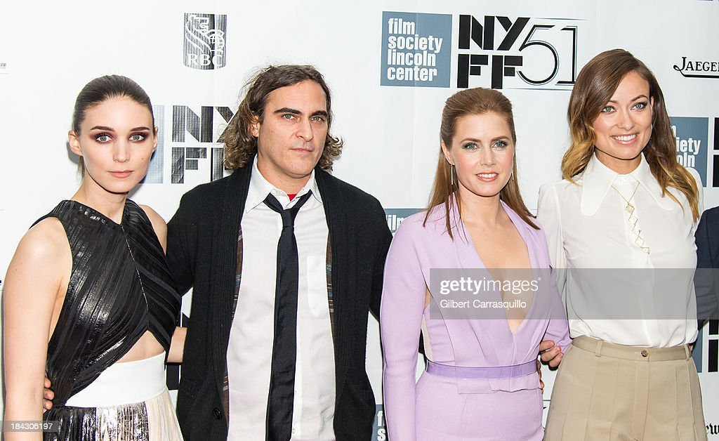 Actors Rooney Mara, Joaquin Phoenix, Amy Adams and Olivia Wilde attend the Closing Night Gala Presentation Of 'Her' during the 51st New York Film Festival at Alice Tully Hall at Lincoln Center on October 12, 2013 in New York City.