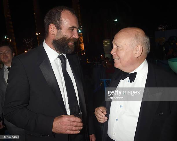 Actors Rory McCann and Julian Fellowes attend HBO's Official 2016 Emmy After Party at The Plaza at the Pacific Design Center on September 18 2016 in...