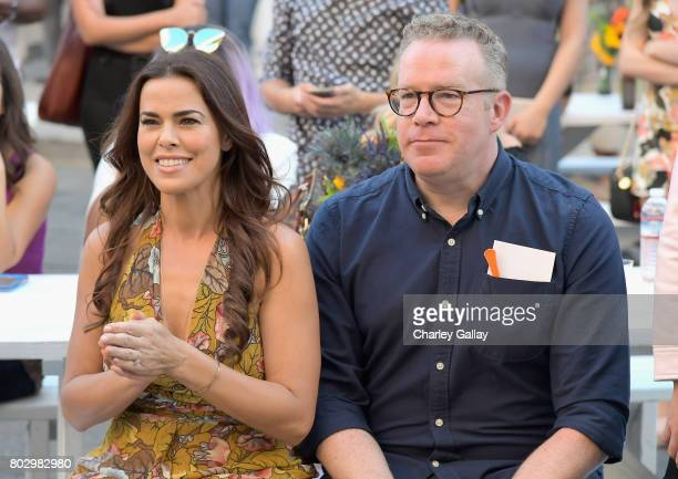 Actors Rosa Blasi and Chris Tallman celebrate the 100th episode of Nickelodeon's The Thundermans at Paramount Studios on June 28 2017 in Hollywood...