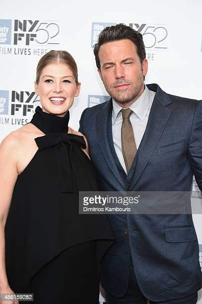 Actors Rosamund Pike and Ben Affleck attend the Opening Night Gala Presentation and World Premiere of 'Gone Girl' during the 52nd New York Film...