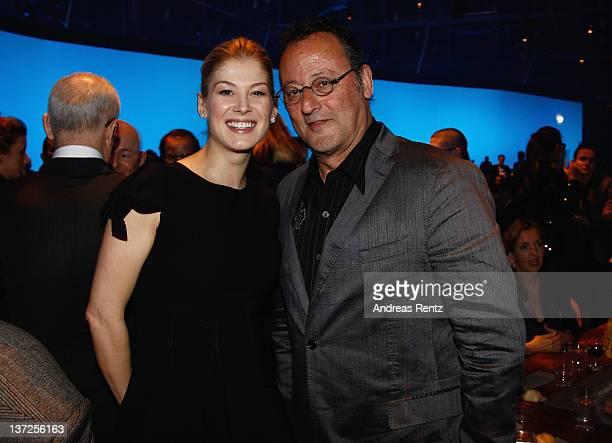 Actors Rosamund Pike and Jean Reno attend the IWC Schaffhausen Top Gun Gala Event during the 22nd SIHH High Jewellery Fair at the Palexpo Exhibition...