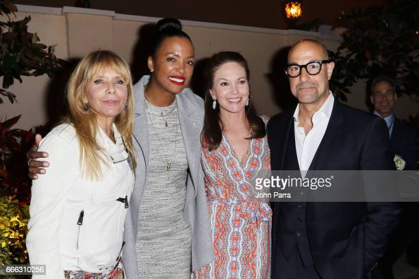 Actors Rosanna Arquette Aisha Tyler Diane Lane and Stanley Tucci attend the closing night ceremony and screening of 'Paris Can Wait' during the 2017...