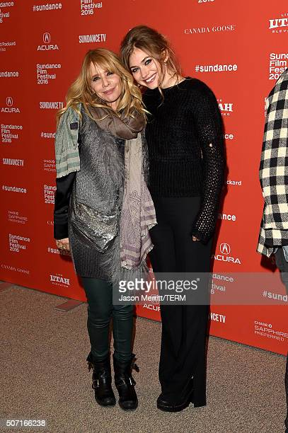 Actors Rosanna Arquette and Imogen Poots attend the 'Frank Lola' premiere during the 2016 Sundance Film Festival at Eccles Center Theatre on January...
