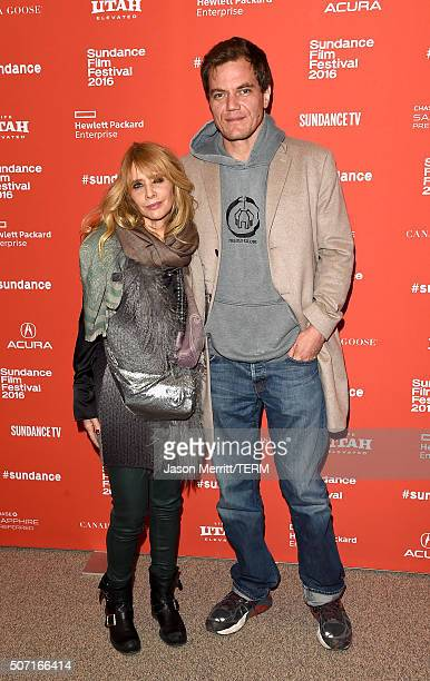 Actors Rosanna Arquette and Michael Shannon attend the 'Frank Lola' premiere during the 2016 Sundance Film Festival at Eccles Center Theatre on...