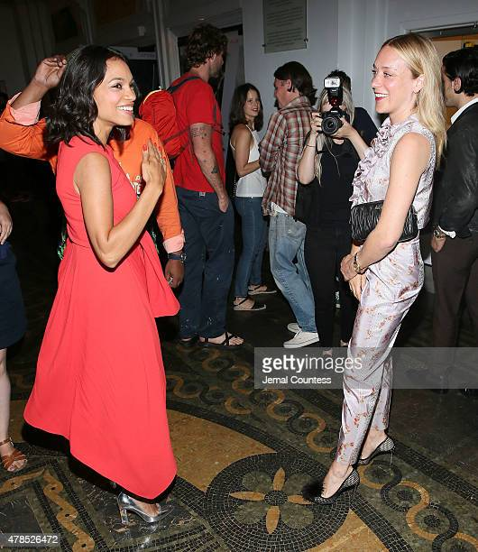 Actors Rosario Dawson and Chloe Sevigny attend the 'Kids' 20th Anniversary Screening at BAMcinemaFest 2015 at BAM Peter Jay Sharp Building on June 25...