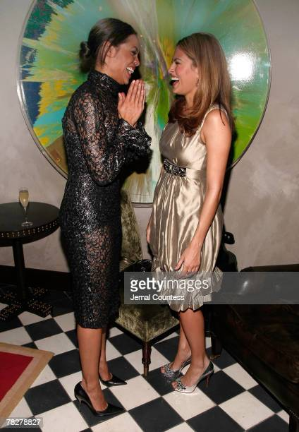 Actors Rosario Dawson and Eve Mendes attend the Dolce Gabbana's The One Fragrance Launch and Private Dinner at The Grammercy Park Hotel on december 4...