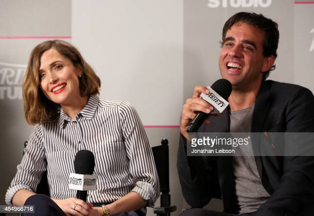 Actors Rose Byrne and Bobby Cannavale attend the Variety Studio presented by Moroccanoil at Holt Renfrew during the 2014 Toronto International Film...
