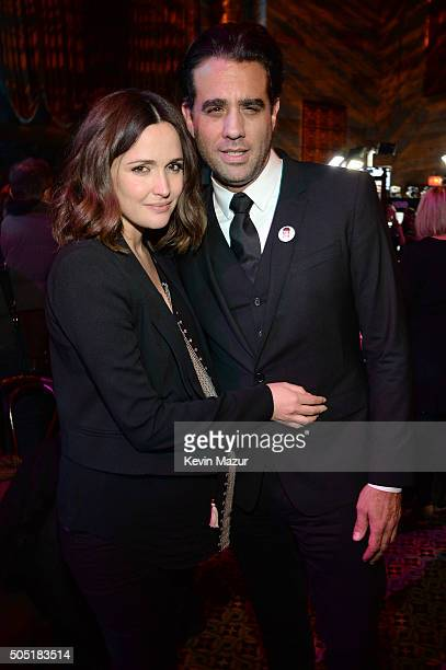 Actors Rose Byrne and Bobby Cannavale attends the after party of the New York premiere of Vinyl at Ziegfeld Theatre on January 15 2016 in New York...