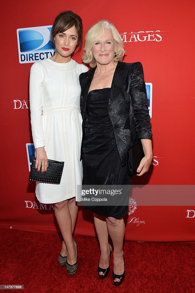 Actors Rose Byrne and Glenn Close attend The DIRECTV Premiere event for the fifth and Final Season of 'Damages' at The Oak Room on June 28, 2012 in New York City.