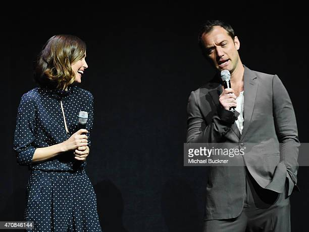 Actors Rose Byrne and Jude Law speak onstage during 20th Century Fox Invites You to a Special Presentation Highlighting Its Future Release Schedule...