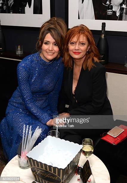 Actors Rose Byrne and Susan Sarandon attend the 2016 Tribeca Film Festival after party for The Meddler sponsored by Freixenet at Parlor on April 19,...