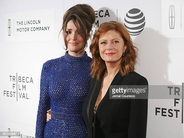 Actors Rose Byrne and Susan Sarandon attend 'The Meddler' Premiere at John Zuccotti Theater at BMCC Tribeca Performing Arts Center on April 19 2016...