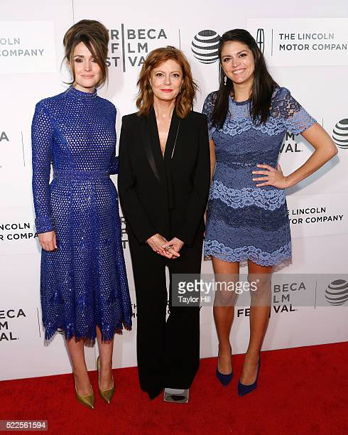 """Actors Rose Byrne, Susan Sarandon, and Cecily Strong attend the premiere of """"The Meddler"""" at Borough of Manhattan Community College during the 2016..."""