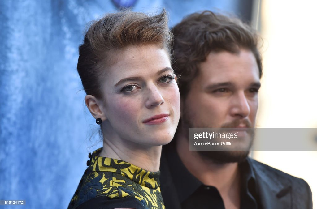 Actors Rose Leslie and Kit Harington arrive at the premiere of HBO's 'Game Of Thrones' Season 7 at Walt Disney Concert Hall on July 12, 2017 in Los Angeles, California.