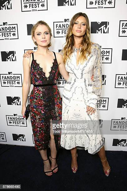 Actors Rose McIver and Aly Michalka attend the MTV Fandom Awards San Diego at PETCO Park on July 21 2016 in San Diego California
