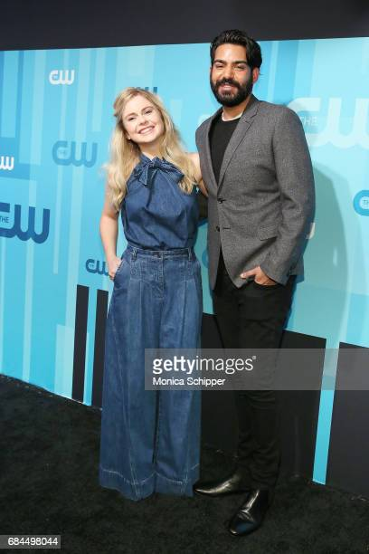 Actors Rose McIver and Rahul Kohli attend the 2017 CW Upfront on May 18 2017 in New York City