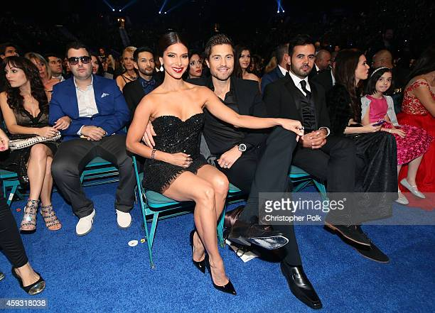 Actors Roselyn and Eric Winter Sanchez attend the 15th Annual Latin GRAMMY Awards at the MGM Grand Garden Arena on November 20 2014 in Las Vegas...