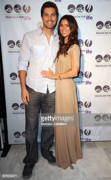 Actors Roselyn Sanchez and Eric Winter attends the after Pool Party For The Roselyn Sanchez Triathlon For Life on March 7 2010 in San Juan Puerto Rico