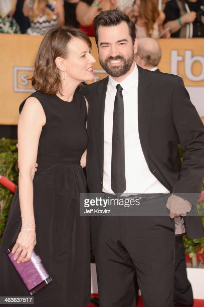 Actors Rosemarie DeWitt and Kyle Chandler attends the 20th Annual Screen Actors Guild Awards at The Shrine Auditorium on January 18 2014 in Los...
