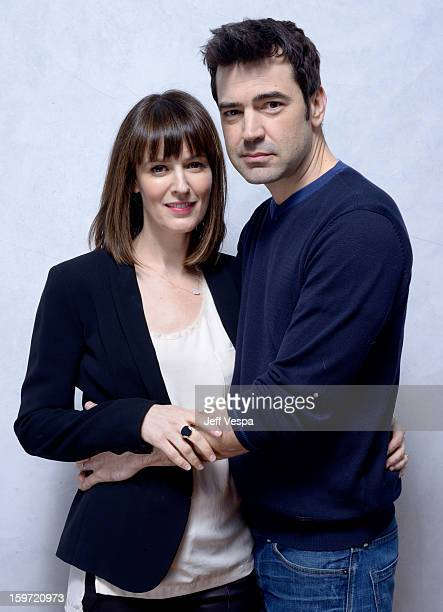 Actors Rosemarie DeWitt and Ron Livingston pose for a portrait during the 2013 Sundance Film Festival at the WireImage Portrait Studio at Village At...