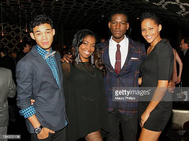 Actors Roshon Fegan Donielle Artese Kofi Siriboe and Jazzmine Jackson attend The GRAMMY Nominations Concert Live after party held at Club Nokia on...