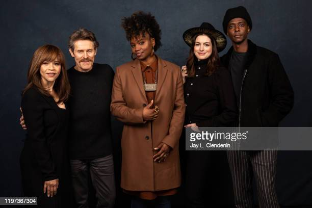 Actors Rosie Perez Willem Dafoe director Dee Rees Anne Hathaway and Edi Gathegi from 'The Last Thing He Wanted' are photographed in the LA Times...