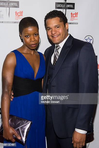 Actors Roslyn Ruff and Brandon J Dirden attend the 2013 Lucille Lortel Awards at Jack H Skirball Center for the Performing Arts on May 5 2013 in New...